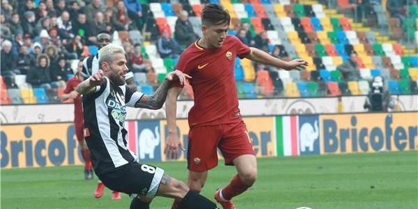 روما يخطف فوزاً ثميناً أمام أودينيزي ويصعد للمركز الثالث بالدوري الايطالي